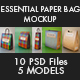 Plus Pack Paper Bag Mockup