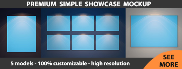 Simple Showcase Mockup